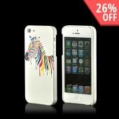 Nex Artsy Zebra Hard Case w/ Screen Protector for Apple iPhone 5/5S