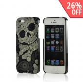 Nex Paisley Skull Hard Case w/ Screen Protector for Apple iPhone 5/5S