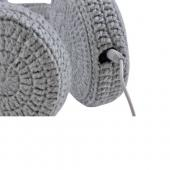 OEM iHip Crochet Creatures Universal Headphones (3.5mm), IP-CROC-BUNNY - Gray/ Pink Bunny Ears