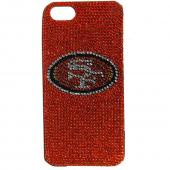 San Francisco 49ers Bling Gems Hard Case for Apple iPhone 5/5S - NFL Licensed