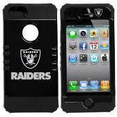 Oakland Raiders Rocker Series Black Hard Case Shell on Black Silicone Skin Case for Apple iPhone 5/5S - NFL Licensed