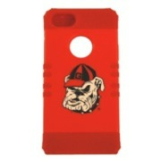Georgia Bulldogs Rocker Series Red Hard Case Shell on Red Silicone Skin Case for Apple iPhone 5/5S - NCAA Licensed