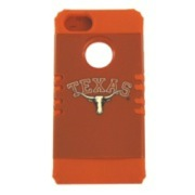 Texas Longhorns Rocker Series Orange Hard Case Shell on Orange Silicone Skin Case for Apple iPhone 5/5S - NCAA Licensed