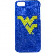 W. Virginia Mountaineers Bling Gems Hard Case for Apple iPhone 5/5S - NCAA Licensed