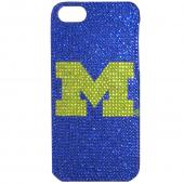 Michigan Wolverines Bling Gems Hard Case for Apple iPhone 5/5S - NCAA Licensed