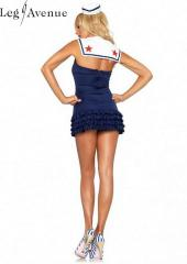 LegAvenue Costume Sweetheart Sailor Ruffle Bottom Dress w,Anchor Charm & Mini Sailor Hat 83647