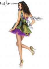 3PC LegAvenue Costume Woodland Fairy Dress w, Waist Sash & Flower Appliqué Accent & Matching Hair Clip 83868