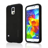 Incipio Black Dual PRO Series Rubberized Hard Case on Silicone for Samsung Galaxy S5 - SA-526-BLK