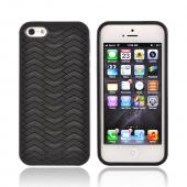 OEM Odoyo Shark Skin Collection Apple iPhone 5/5S Anti-Slip Hard Case w/ Screen Protector - Black