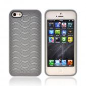 OEM Odoyo Shark Skin Collection Apple iPhone 5/5S Anti-Slip Hard Case w/ Screen Protector - Gray