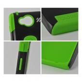 Trident Green/ Black Aegis Series Hard Case on Silicone w/ Screen Protector for Motorola Droid RAZR HD