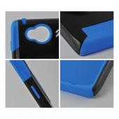 Trident Blue/ Black Aegis Series Hard Case on Silicone w/ Screen Protector for Motorola Droid RAZR HD