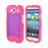 OEM Trident Apollo Samsung Galaxy S3 Hard Case w/ Interchangeable Plates & Screen Protector - Pink/ Purple
