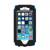 OEM Trident Kraken AMS Apple iPhone 5 Hard Case Over Silicone w/ Screen Protector, Kickstand & Belt Clip - Blue/ Black