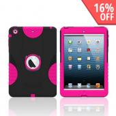Trident Aegis Black/ Pink Hard Case Over Silicone w/ Screen Protector for Apple iPad Mini