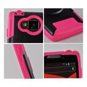 Pink/Black Trident Aegis Hard Cover Over Silicone Case w/Screen Protector for Motorola Droid RAZR MAXX HD