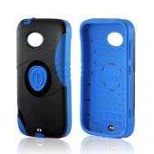 Blue/ Black Trident Aegis Hard Cover Over Silicone Case w/Screen Protector for Nokia Lumia 822