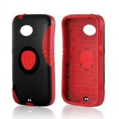 Red/ Black Trident Aegis Hard Cover Over Silicone Case w/Screen Protector for Nokia Lumia 822