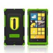 Trident Green/ Black Aegis Series Hard Cover on Silicone Case w/ Screen Protector for Nokia Lumia 920