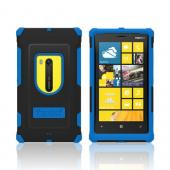 Trident Blue/ Black Aegis Series Hard Cover on Silicone Case w/ Screen Protector for Nokia Lumia 920