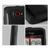 Trident Black Aegis Series Hard Case on Silicone w/ Screen Protector for HTC Droid DNA