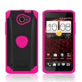 Trident Hot Pink/ Black Aegis Series Hard Case on Silicone w/ Screen Protector for HTC Droid DNA