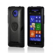 Trident Black Aegis Series Hard Case on Silicone w/ Screen Protector for HTC 8X