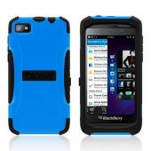 Trident Blue/ Black Aegis Series Hard Case on Silicone w/ Screen Protector for Blackberry Z10