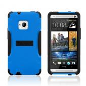 Trident Blue/ Black Aegis Series Hard Case on Silicone w/ Screen Protector for HTC One