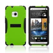 Trident Lime Green/ Black Aegis Series Hard Case on Silicone w/ Screen Protector for HTC One