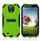 Trident Lime Green/ Black Aegis Series Hard Cover on Silicone Case w/ Screen Protector for Samsung Galaxy S4