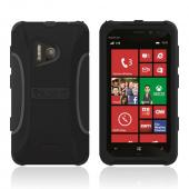 Trident Black Aegis Series Hard Cover on Silicone Case w/ Screen Protector for Nokia Lumia 928