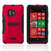 Trident Red/ Black Aegis Series Hard Cover on Silicone Case w/ Screen Protector for Nokia Lumia 928