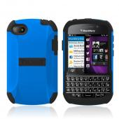 Trident Blue/ Black Aegis Series Hard Case on Silicone Skin w/ Screen Protector for Blackberry Q10 - AG-BB-Q10-BLU