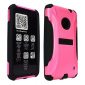 Trident Hot Pink/ Black Aegis Series Hard Cover on Silicone Case w/ Screen Protector for Nokia Lumia 520 - AG-NOK-LUMIA520-PNK