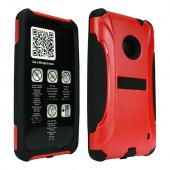 Trident Red/ Black Aegis Series Hard Cover on Silicone Case w/ Screen Protector for Nokia Lumia 521 - AG-NOK-LUMIA520-RED