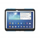 Blue/ Black Trident Aegis Series Hard Case on Silicone w/ Screen Protector for Samsung Galaxy Tab 3 10.1 - AG-SAM-TAB3-BLU