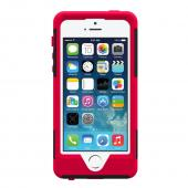 OEM Trident Aegis Apple iPhone 5/5S Hard Cover Over Silicone Case w/ Screen Protector - Red/ Black