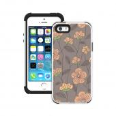 Trident Pink Cherry Blossoms on Gray Aegis Design Series Hard Cover on Silicone Skin Case w/ Screen Protector for Apple iPhone 5/5S - ADG-APL-IP5S-WTP002