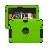 Trident Lime Green/ Black Kraken AMS Series Hard Case on Silicone w/ Built-In Screen Protector for Amazon Kindle Fire HDX 8.9 - AMS-AMZ-KFHDX89-TG