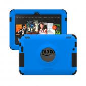 Trident Blue/ Black Kraken AMS Series Hard Case on Silicone w/ Built-In Screen Protector for Amazon Kindle Fire HDX 7 - AMS-AMZ-KFHDX7-BLU