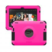Trident Hot Pink/ Black Kraken AMS Series Hard Case on Silicone w/ Built-In Screen Protector for Amazon Kindle Fire HDX 7 - AMS-AMZ-KFHDX7-PNK