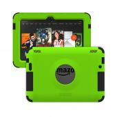 Trident Lime Green/ Black Kraken AMS Series Hard Case on Silicone w/ Built-In Screen Protector for Amazon Kindle Fire HDX 7 - AMS-AMZ-KFHDX7-TG