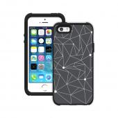 Trident White Constellations on Dark Gray Aegis Design Series Hard Cover on Silicone Skin Case w/ Screen Protector for Apple iPhone 5/5S - ADG-APL-IP5S-WTP006