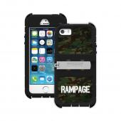 "Trident Green Camo/ Black Kraken AMS Rampage Series Hard Cover Hybrid Case w/ Built-In Screen Protector, Kickstand, Holster & 32"" Steel Chainfor Apple iPhone 5/5S - AMSRP-APL-IPH5S-RP001"