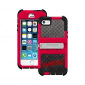 Trident Kraken AMS Rampage iPhone 5 / 5S Case | [Cage Red / Black] Kraken AMS Rampage Series Rugged Protective Polycarbonate on Silicone Dual Layer Hybrid Case w/ Built-in Screen Protector for Apple iPhone 5 / 5S | Great Alternative to Otterbox!