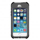 "Trident Silver Chains on Gray/Black Kraken AMS Rampage Series Hard Cover Hybrid Case w/ Built-In Screen Protector, Kickstand, Holster, & 32"" Steel Chain for Apple iPhone 5/5S - AMSRP-APL-IPH5S-RP003"