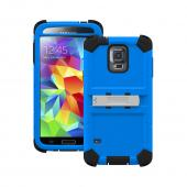 Trident Blue/ Black Kraken AMS Series Hard Case on Silicone w/ Built-In Screen Protector & Holster for Samsung Galaxy S5 - KN-SSGXS5-BL000