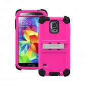 Trident Pink/ Black Kraken AMS Series Hard Case on Silicone w/ Built-In Screen Protector & Holster for Samsung Galaxy S5 - KN-SSGXS5-PK000
