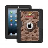 Trident U.S. Marines Military Kraken AMS Series Brown Digital Camo Hard Cover on Silicone Skin Case w/ Built-In Screen Protector for Apple iPad 2/3/4 - KN-APIPDNUBKK04